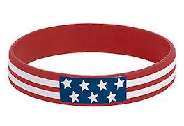 USA Patriotic Flag Silicone Bracelets (12)