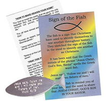 Christian Fish & Pocket Card (Pkg of 50)