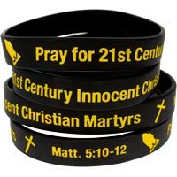 Pray for Christian Martyrs Bracelet Silicone