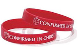 Confirmed in Christ Silicone Bracelet