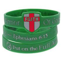 Armor Of God Silicone Bracelet Faith Shield