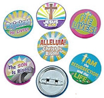 Easter He Lives Mini Buttons (Pkg of 24)