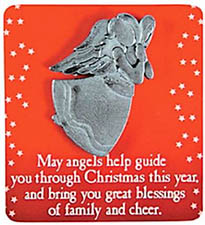 Christmas Blessing Angel on Card