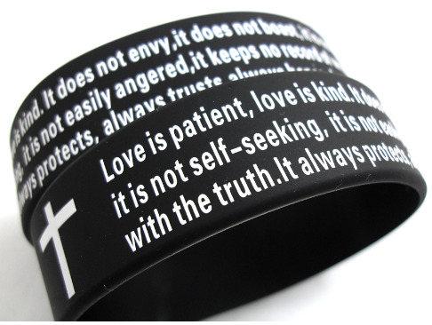 Love Is Patient Kind Silicone Bracelet