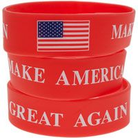 Make America Great Silicone Bracelet USA Flag