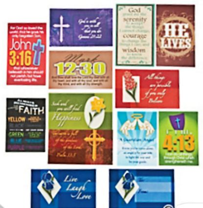 Faith Wallet Card Assortment of 144, Plastic