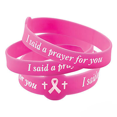 I Pray for You Breast Cancer Silicone Bracelet