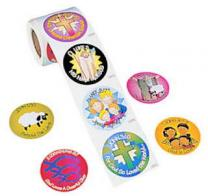 Bible Verse Stickers for Kids (Roll of 100)