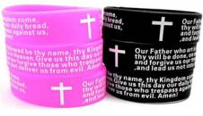 Lord's Prayer Wide Silicone Bracelet